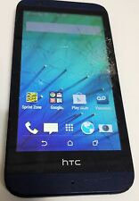 HTC Desire 510 4GLTE Navy Blue Sprint PrePaid Android Smartphone Cracked Screen