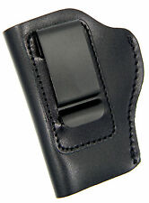 IWB ITP INSIDE PANTS LEFT HAND BLACK LEATHER CLIP HOLSTER - WALTHER PPK, PPK/S