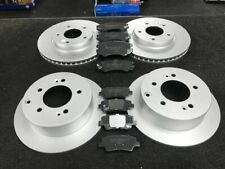 FOR KIA SOUL 1.6 & 1.6 CRDi 2009-2014 FRONT & REAR BRAKE DISCS AND PADS SET NEW