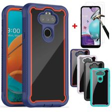 For LG Phoenix 5/K31/Aristo 5/Fortune 3 Shockproof Bumper Case+Tempered Glass