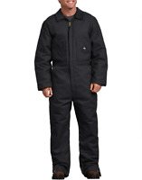 DICKIES MAN'S Duck Insulated Coveralls,Black