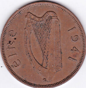 1941 IRELAND PENNY  ~   YOU GRADE IT ~ PLEASE SEE THE SCAN .