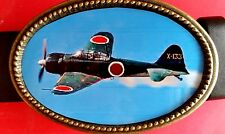 Fighter Planes of WWII MITSUBISHI A6M ZERO Epoxy Photo Belt Buckle- NEW!