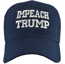 IMPEACH TRUMP   hat  Embroidered Blue   Hat White writing on hat Free Shipping