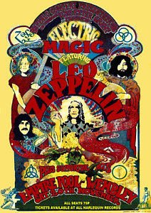 """Reproduction Led Zeppelin Concert Poster, """"Empire Pool - Wembley"""", Home Wall Art"""