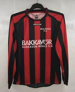 Walpole Matchworn L/S Home Football Shirt 2000's Adults Medium Pro Star B466