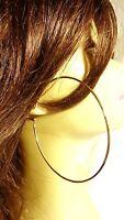 LARGE HOOP EARRINGS 3 INCH HOOP SIMPLE THIN HOOP EARRINGS GOLD OR SILVER TONE