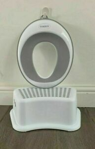 Single Step Stool for Kids Toddler's for Potty Training bathroom with ring Grey