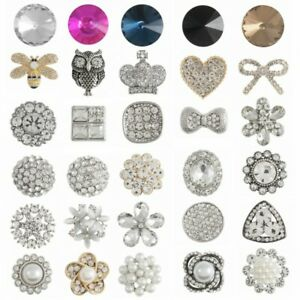 1 x Diamante Button Shank Crystal Rhinestones Sparkle Shimmer Dress Wedding