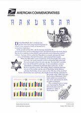 USPS Commemorative Panel 585 #3352 Hanukkah Holiday Celebrations Mint Blk/4 1999