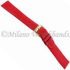 16mm Morellato High Quality Soft Genuine Italian Leather Red Watch Band Reg 112