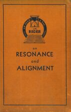On Resonance and Alignment by John F. Rider (1936) - CD