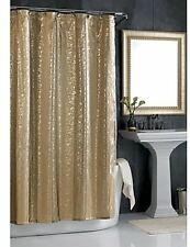 Sheer Bliss 72-Inch X 72-Inch Shower Curtain Gorgeous Bathroom Decor in Gold NEW