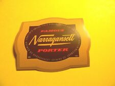Vintage 1954 Narragansett Porter Beer Label 12 Oz. Cranston Rhode Island