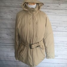 Tommy Hilfiger Jeans Womens Down Winter Belted Down Jacket Caramel Tan Size S/P