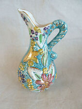 H Bequet Quaregnon Ewer Pitcher  Fancy Handle   Small  Belgium