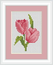 Tulip Cross Stitch Kit By Luca S Ideal For Beginner 6cm x 8cm