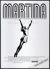 Martina Navratilova on Fitness_Original 1987 print Ad / promo_Wimbledon Tennis
