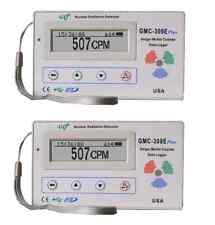 Two GQ GMC-300E +V4 Nuclear Radiation Detector Data logger Beta Gamma detection
