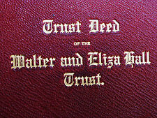 Trust Deed of the Walter and Eliza Hall Trust. Facsimile.