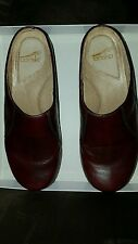 dansko size 40 leather upper clog euc