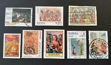 Spain España 🇪🇸 - 8 used stamps / 02