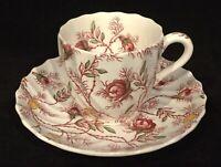 Spode ROSEBUD CHINTZ (2-8401) Demitasse Cup & Saucer/Tea Cup & Saucer COPELAND