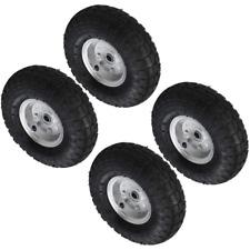 2 Pack Trolleys Pneumatic Wheels 10 in. Sack Trucks Wheelbarrows Wheel 16mm Hole