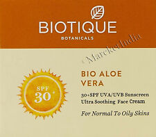 Biotique Aloe Vera 30 SPF Sunscreen Face Cream for Normal to Oily Skin 50gm