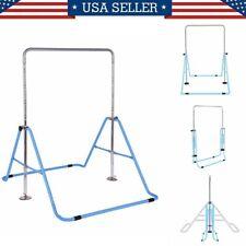 Gymnastics Bars for Kids Adjustable Horizontal Bar Junior Training Bars Blue US
