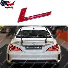 1x Black Series Car Rear Trunk Body Emblem Red Sticker For Mercedes Benz AMG