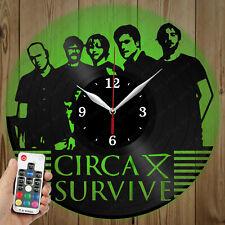 LED Vinyl Clock Circa Survive LED Wall Art Decor Clock Original Gift 2938