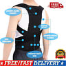 Unisex Corset Back Posture Corrector Shoulder Lumbar Brace Spine Support Belt