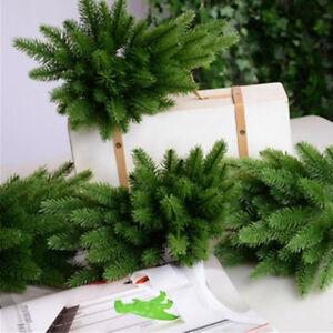 10X Fashion Artificial Flower Fake Plants Pine Tree Durable Branches Xmas Decor