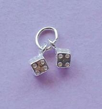 Dice Charm Pendant  STERLING SILVER
