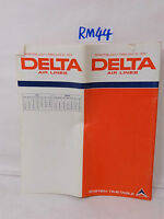 VINTAGE DELTA AIRLINES SYSTEM TIMETABLE JULY 1974 COMPLETE MAP AND CITIES US