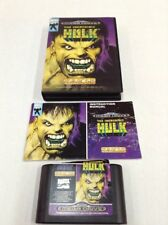 The Incredible Hulk Sega Genesis COMPLETE - Box + Manual - CIB Rare Game Tested
