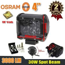 1pc 4inch 30W OSRAM Led Light Bar Spot Beam Work Driving Lamp 4WD ATV Off-road