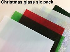 Stained Glass Tools/ Supplies Christmas glass pack six colours free eyes noses h
