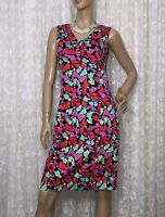 JUMP SIZE 10 MULTICOLOURED COTTON BLEND DRESS AS NEW