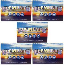 5 Pack Elements Ultra Thin Rice 1.5 Cigarette Rolling Papers 165 Leaves 8311-5