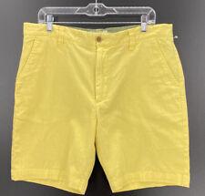 Grayers Men's Bermuda Cotton Linen Blend Shorts in Yellow Size 36W  New