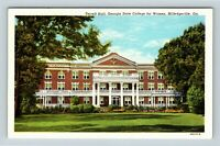 Milledgeville GA, Terrell, State College for Women, Georgia, Linen Postcard Z65