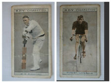 BDV 1933 Vintage Double Sided Card Cricket-Cycling W.H Ponsford-Hubert Opperman