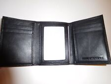 Bosca Mens Wallet BLACK NEW Trifold Wallet Leather  Goodtreasures123
