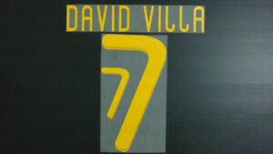 DAVID VILLA #7 Spain Home & Away World Cup 2010 Name Set