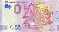 BILLET 0  EURO CARNAVAL DE TENEREFIE ESPAGNE  2021 NUMERO 1301