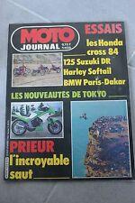 MOTO JOURNAL 626 BMW R100 GS HONDA CR SUZUKI DR 125 Harley Davidson 1340 1983