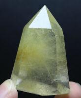 Natural Golden Hair Rutilated Clear Quartz Crystal Wand Point Specimen 52g