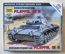 Zvezda 1/100 scale WW2 GERMAN TANK PANZER III